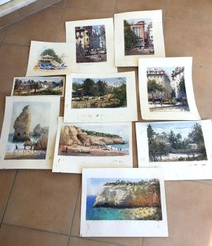 Watercolors from Portugal by MarcoBucci