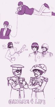 a few more beatles scribbles by mistress-samwise