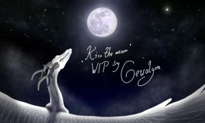 WIP of -Kiss the moon- by Gewalgon