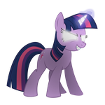 Twilight is a tad angry by The-Smiling-Pony
