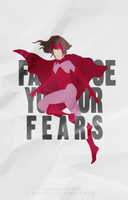 Face Your Fears :: A MINIMALIST POSTER by Diagonas