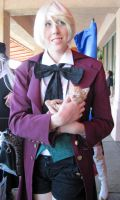 Alois with a kitty by TheSapphireDragon1