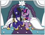 Commission: OC + Alicorn Twilight Shadowbox Sketch by The-Paper-Pony