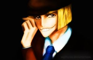 Smiling Shinji by Sagittarina