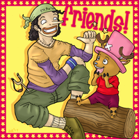 Usopp and Chopper : Friends by firnantowen