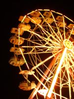 Ferris Wheel At Night by to-the-brink