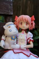 Madoka and President Aria by here-and-faraway