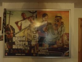 Grand Theft Auto V Pre-Order Posters Double Sided by DOM098652
