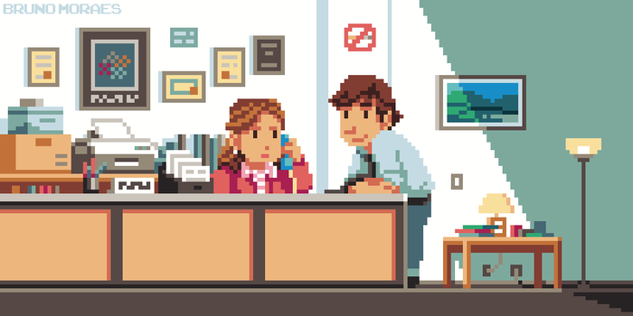 (Animated) Pam + Jim by bbrunomoraes