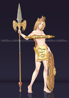 Athena_Commission by CutiChan