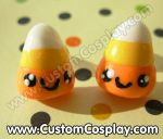 Candy corn stud earrings by The-Cute-Storm