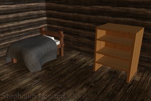 Log Cabin Interior View 1 by StephanieHoward