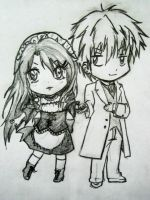 gift by sister: misaki and usui chibi style by foxxesparty
