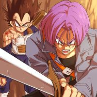 Trunks is fighting 4 his Father by xBulma