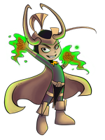 Chibi Loki: Coloured by Cathyrine
