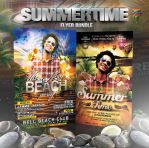 PSD Summertime Flyer Bundle 5in1 by retinathemes
