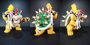 Giant Bowser and Peach by kodykoala