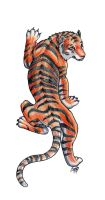 Climbing Tiger by PyrateWolf