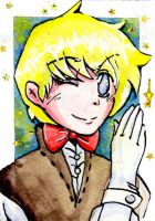 ACEO #4 At your service by MANGAdrawingMANIAC