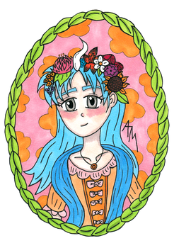 Crowned with Flowers by Drayah
