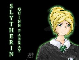 Glee-HP: Slytherin Quinn by agent-ayu