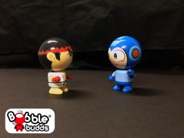 Ryu vs Mega Man! by BobbleBudds