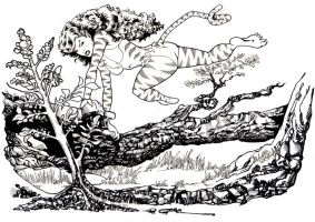 Tigra inked by guillomcool