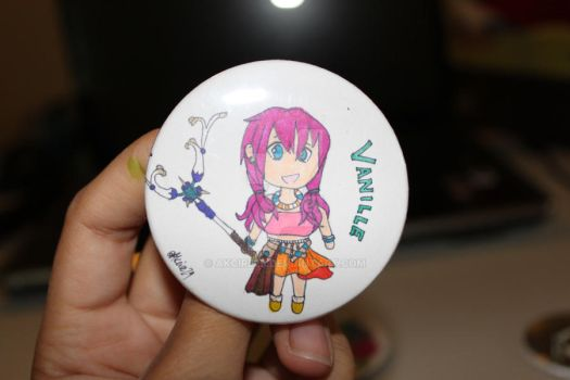 FFXIII Vanille Button by Akcire29