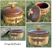 Dragonfly Basket by ButterflyDragon