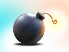 Free 3d bomb by pixaroma