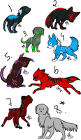 Little wolfs for all x3 by VanclostAdopts