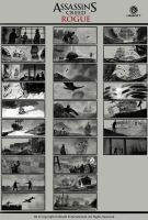 Assassin's Creed Rogue storyboard by drazebot
