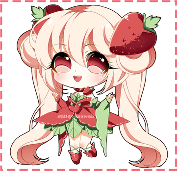 (CLOSED) Fruity Adoptable - Strawberry by StillDollSawaii