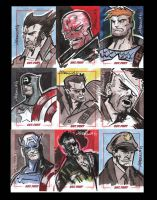 Sgt. Fury 50th Anniversary sketchcards pt 1 by CartoonCaveman