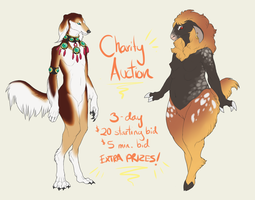 CHARITY AUCTION: Saluki Boy and Goat Girl (Over) by Nhyra