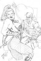 _black canary and Ranger green by JardelCruz