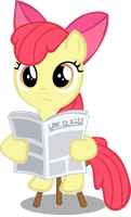 Reading Applebloom by rhubarb-leaf