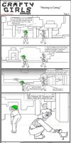 Minecraft Comic: Crafty Girls Pg2 by TomBoy-Comics