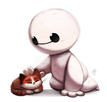 Daily Paint #676. Hairrrry Babyyyy by Cryptid-Creations
