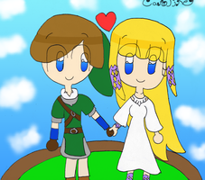 Zelink: Love throughout the sky by Link-Pikachu