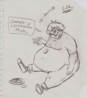 2D Obese by krazorspoon
