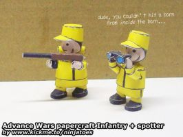 Papercraft Advance Wars Yellow Comet soldiers by ninjatoespapercraft