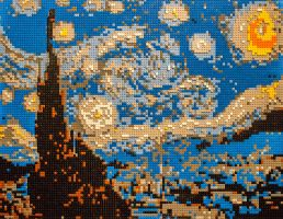 14-10 London - Art of Brick - Starry Night by evionn