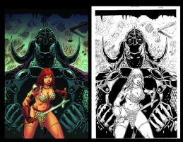Red Sonja 54 Cover by wgpencil
