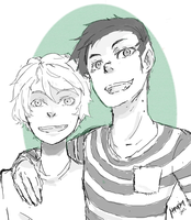 Q.S. : Marshall lee and Finn by Hopia-chan