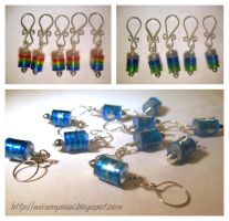 Recycled Bottle Stitch Markers by WireMySoul