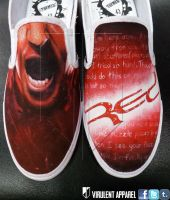 Red - End of Silence shoes by danleicester