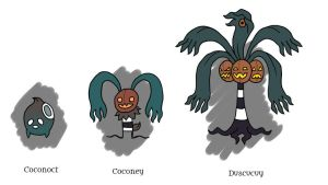 Coconoct, Coconey, and Duscucuy by Pseudolonewolf
