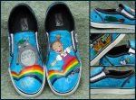 Totoro Vans by ChumpShoes