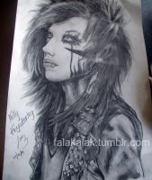 Andy Biersack drawing COMPLETE by falakalak